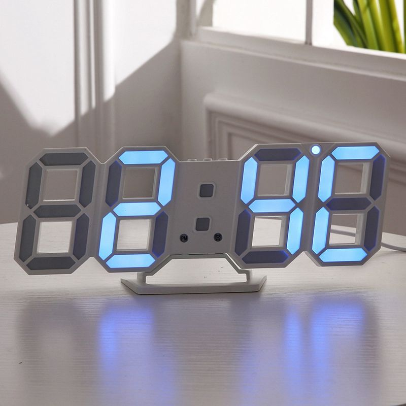 3d modern digital led tisch schreibtisch nacht wanduhr alarm uhr 24 oder 12 o8q6 ebay. Black Bedroom Furniture Sets. Home Design Ideas