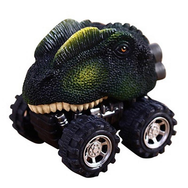 6Pc Children Gift Toy Dinosaur Model Mini Toy Car Gift Dinosaur Puzzle Set Toy