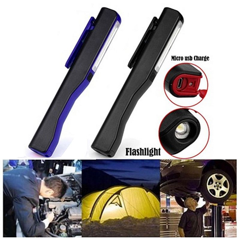 Rechargeable-LED-COB-Portable-Camping-Work-Inspection-Light-Lamp-Hand-Torch-O6Q7 thumbnail 8