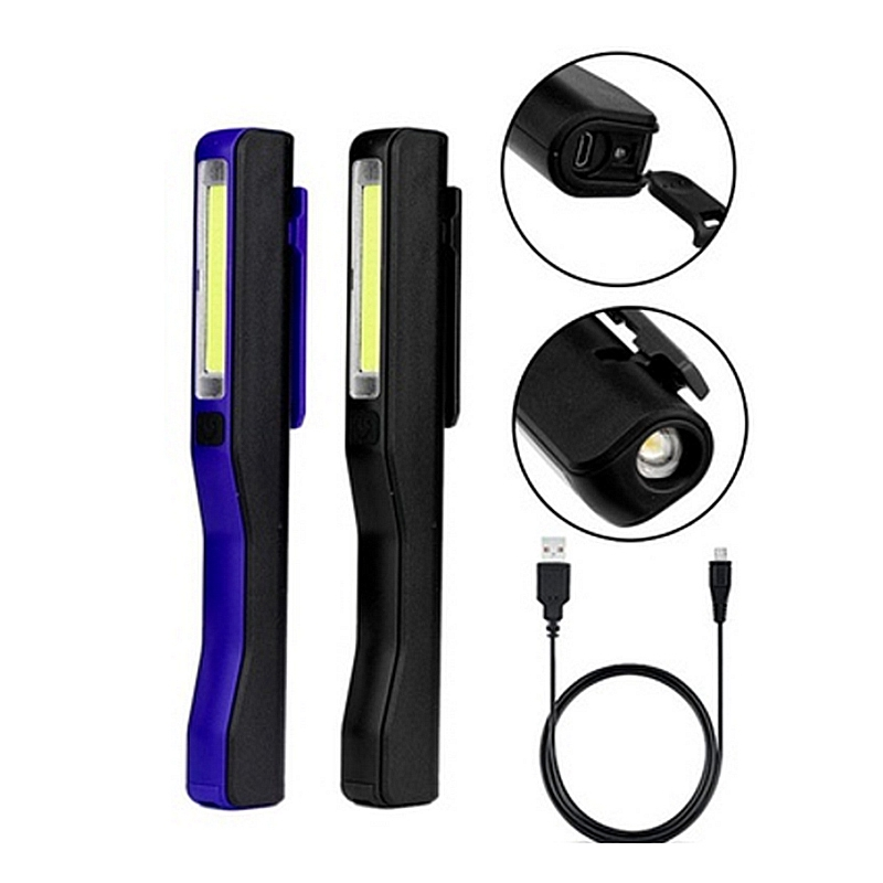 Rechargeable-LED-COB-Portable-Camping-Work-Inspection-Light-Lamp-Hand-Torch-O6Q7 thumbnail 9