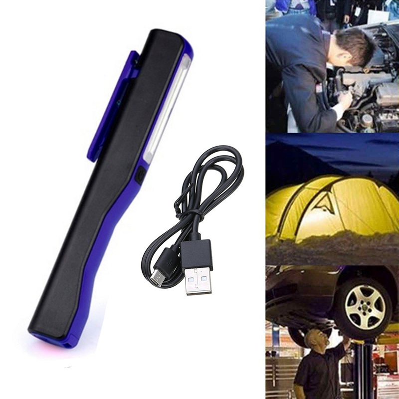 Rechargeable-LED-COB-Portable-Camping-Work-Inspection-Light-Lamp-Hand-Torch-O6Q7 thumbnail 11