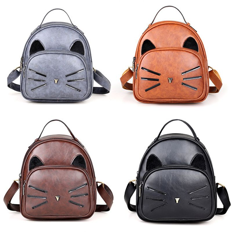 d50a5957b6 Fashion Women Backpack High Quality PU Leather Backpack Cute Cartoon ...