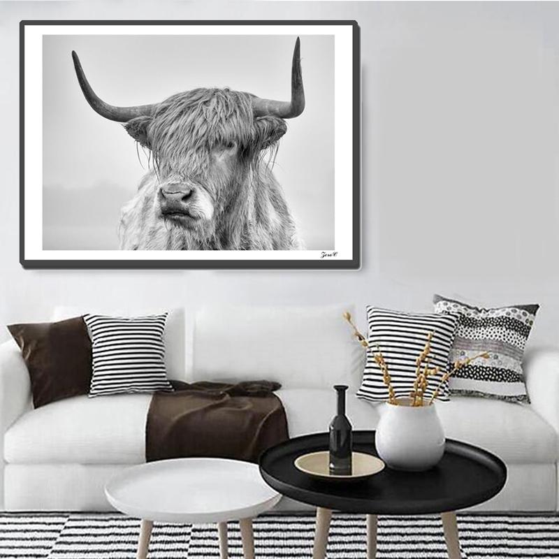 wandkunst leinwand gemaelde bilder fuer wohnzimmer home decor 60cmx100cm a1d2 ebay. Black Bedroom Furniture Sets. Home Design Ideas