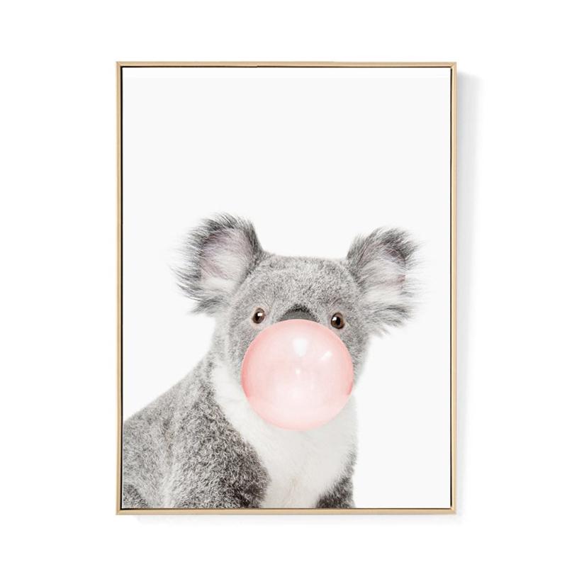 Niedlich Tier Koala Nordisch Leinwand Malerei Kunstdruck Poster Wandbild Zi A6P4