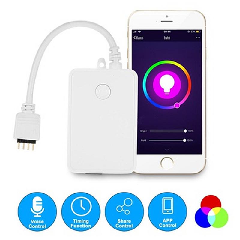 10X(Mini Wifi Controlador de tira LED RGB por control de telefono inteligen 9V7)