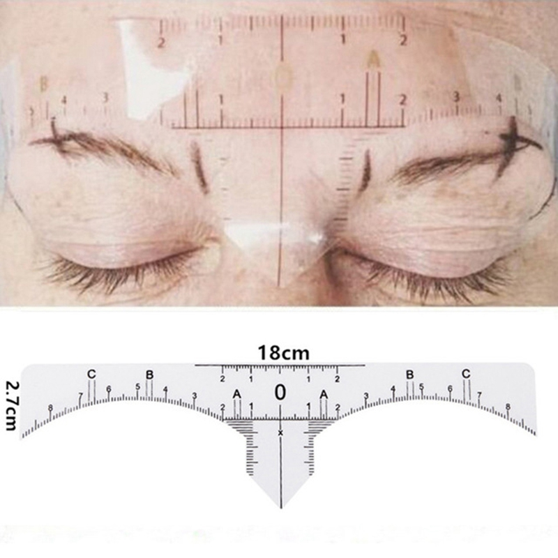 50pcs-Reusable-Semi-Permanent-Eyebrow-Stencil-Makeup-Microblading-Measure-T-Q1K2 thumbnail 5