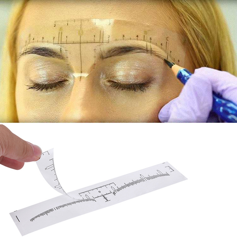 50pcs-Reusable-Semi-Permanent-Eyebrow-Stencil-Makeup-Microblading-Measure-T-Q1K2