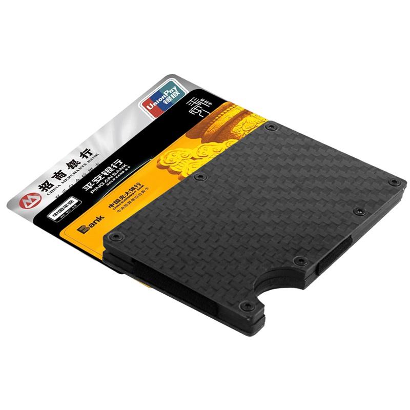Moderne-minimalistische-Brieftasche-Universal-duenner-Geldbeutel-Kohlefaser-C7G5 Indexbild 3
