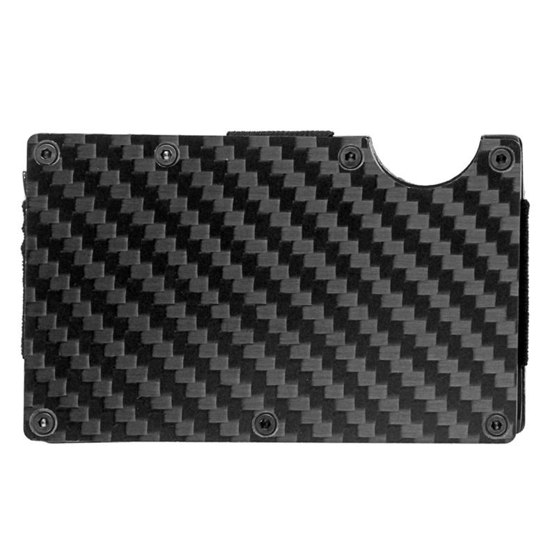 Moderne-minimalistische-Brieftasche-Universal-duenner-Geldbeutel-Kohlefaser-C7G5 Indexbild 5