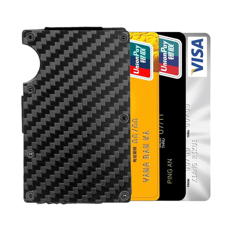 Moderne-minimalistische-Brieftasche-Universal-duenner-Geldbeutel-Kohlefaser-C7G5 Indexbild 6