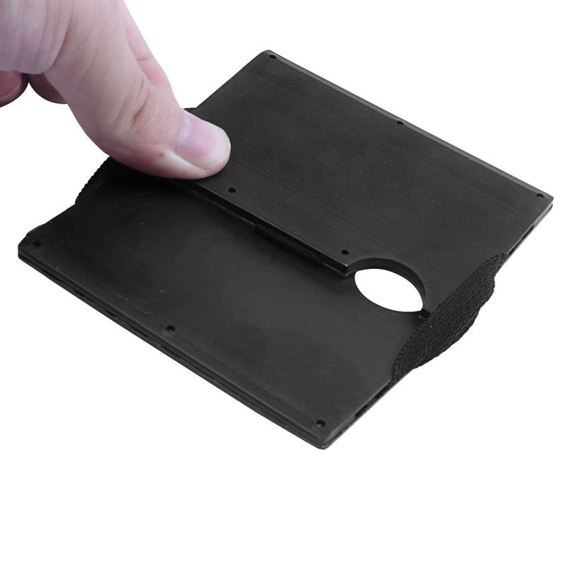 Moderne-minimalistische-Brieftasche-Universal-duenner-Geldbeutel-Kohlefaser-C7G5 Indexbild 10