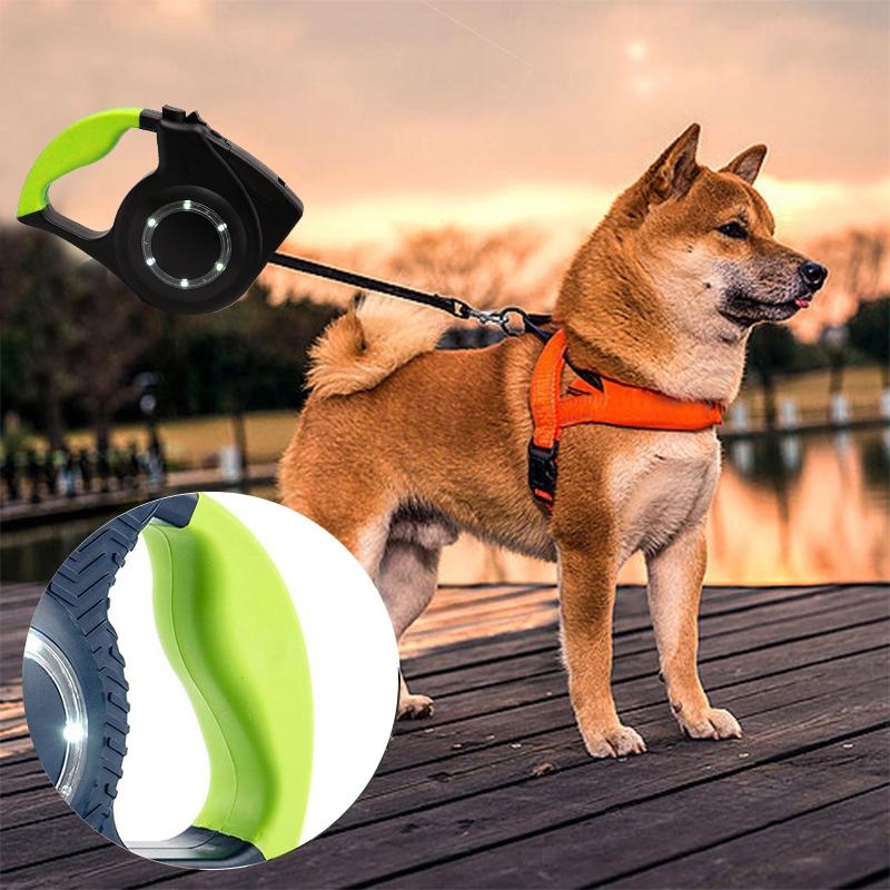 LED-Leuchten-Nylon-Gehendes-Haustier-Leine-Skalierbare-Hundeleine-I3M8