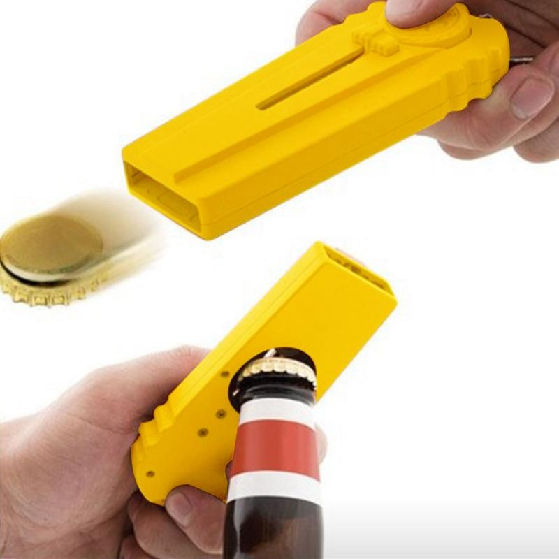 Tapa-Zappa-cerveza-botella-abridor-tapa-lanzador-girar-la-tapa-disparar-sob-Q5I2 miniatura 4