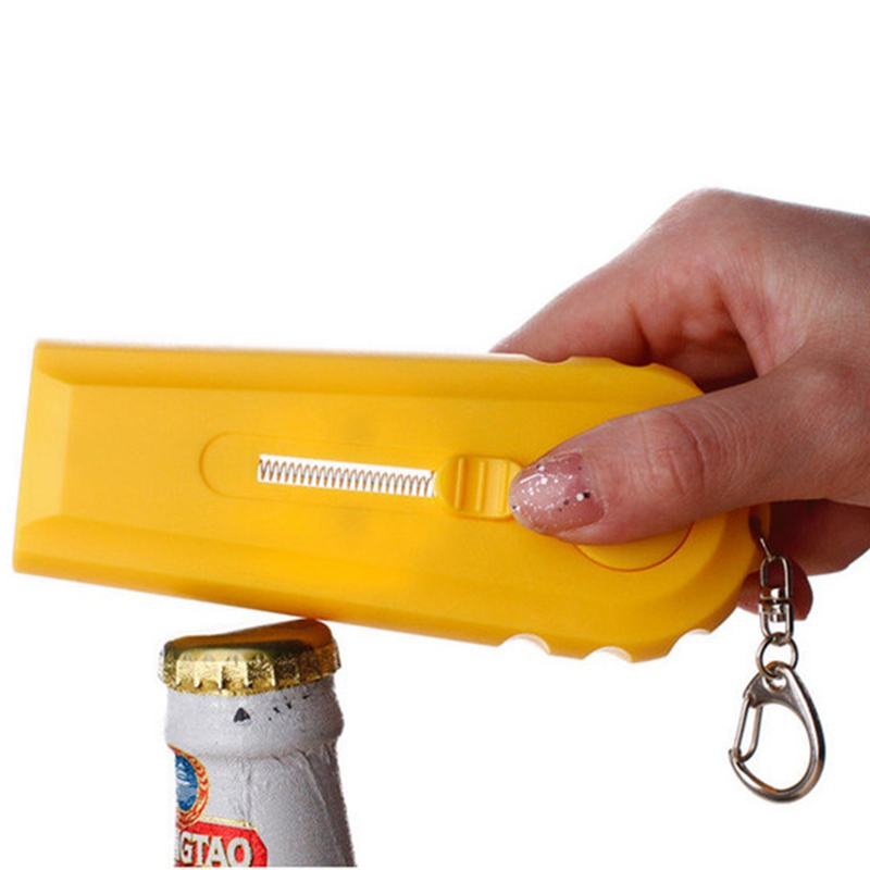 Tapa-Zappa-cerveza-botella-abridor-tapa-lanzador-girar-la-tapa-disparar-sob-Q5I2 miniatura 5