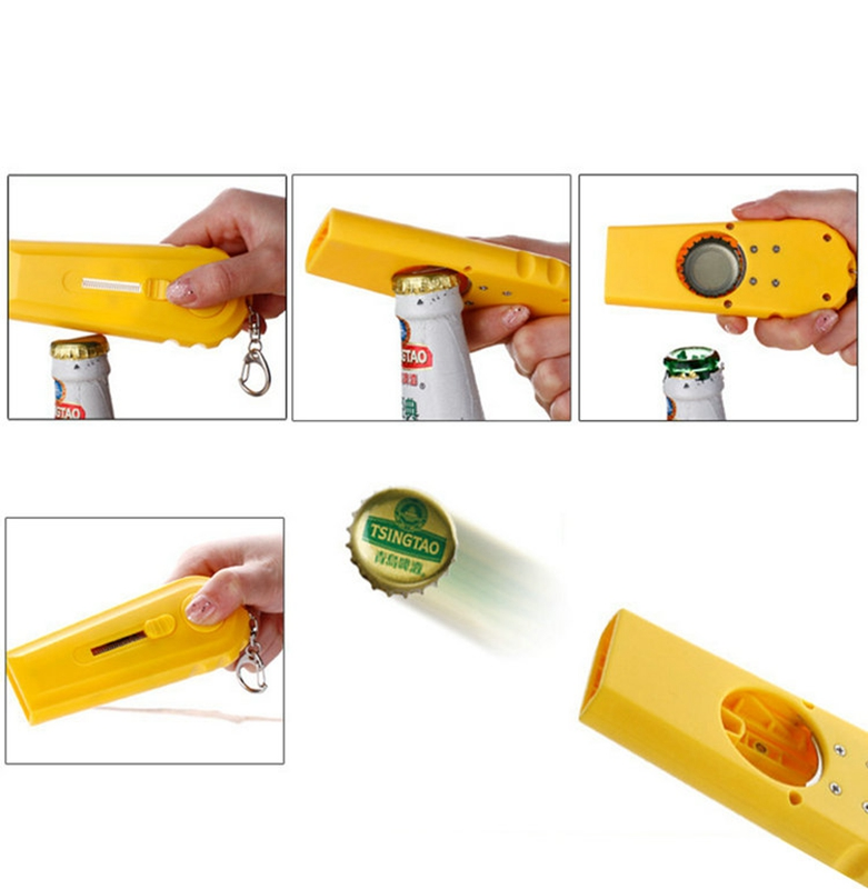 Tapa-Zappa-cerveza-botella-abridor-tapa-lanzador-girar-la-tapa-disparar-sob-Q5I2 miniatura 7