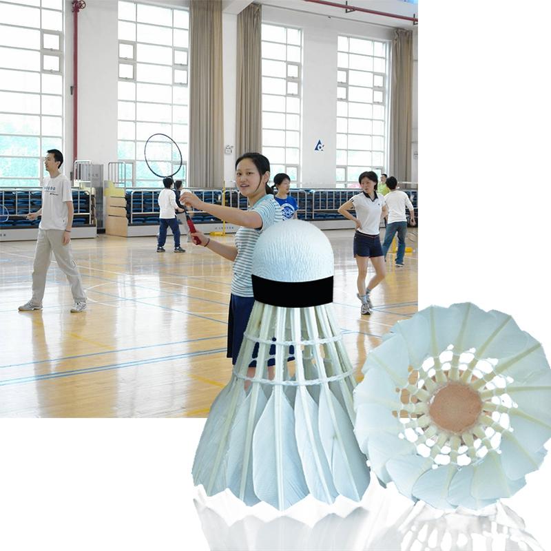 12 Stuecke Badminton Gaensedaunen Ball Badminton Outdoor-Sport Fitness Zube J8F5 Bälle