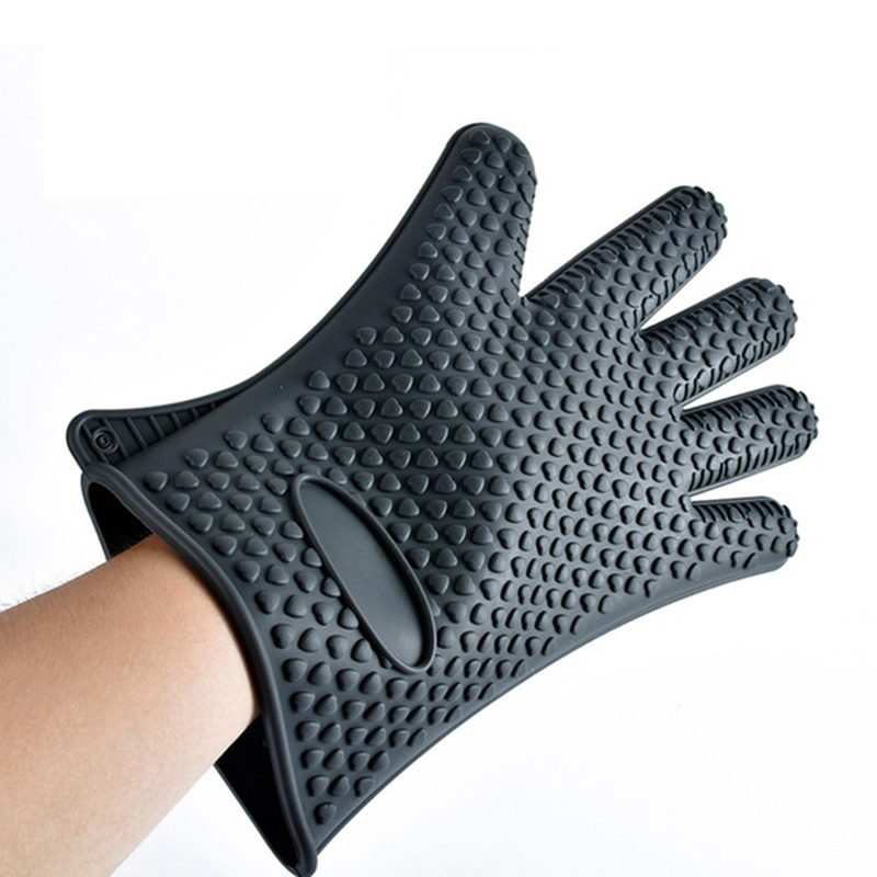 Kitchen-Heat-Resistant-Silicone-Glove-Oven-Pot-Holder-Baking-BBQ-Cooking-Mitt-L3 thumbnail 14