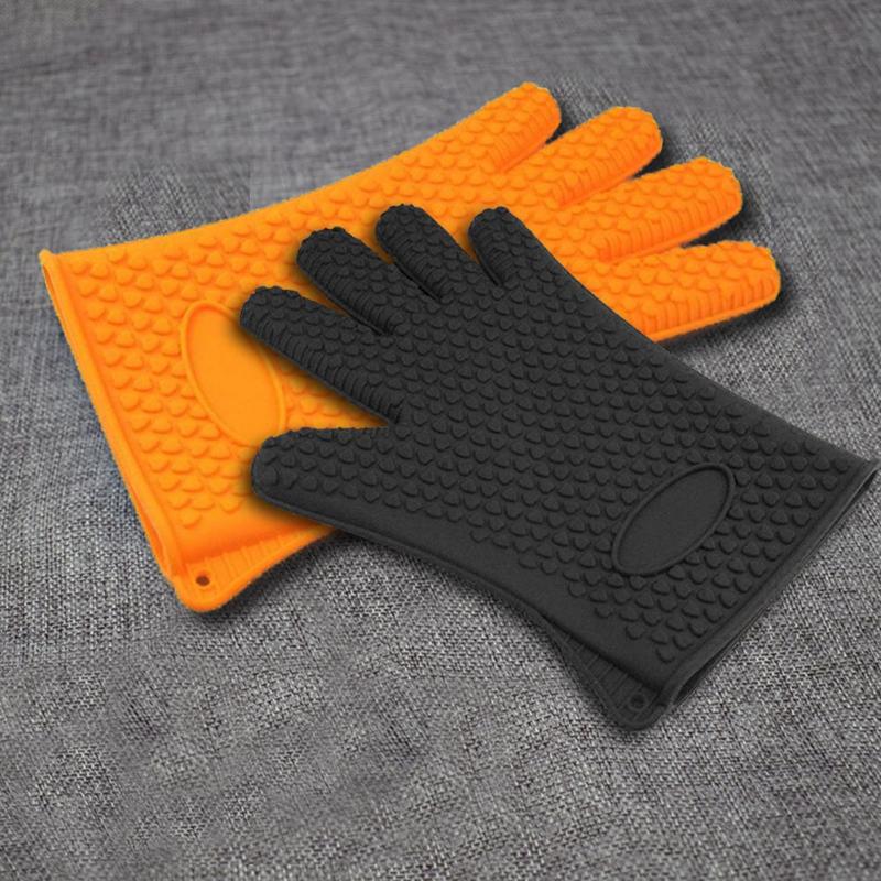 Kitchen-Heat-Resistant-Silicone-Glove-Oven-Pot-Holder-Baking-BBQ-Cooking-Mitt-L3 thumbnail 17