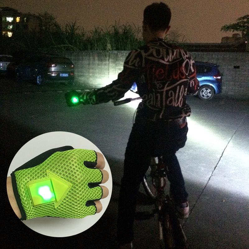 Guantes-de-direccion-de-autoinduccion-Guantes-de-ciclismo-luz-de-bicicleta-H8D9 miniatura 6