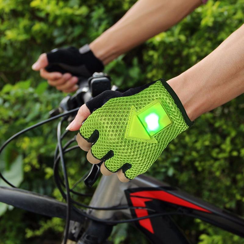 Guantes-de-direccion-de-autoinduccion-Guantes-de-ciclismo-luz-de-bicicleta-H8D9 miniatura 7
