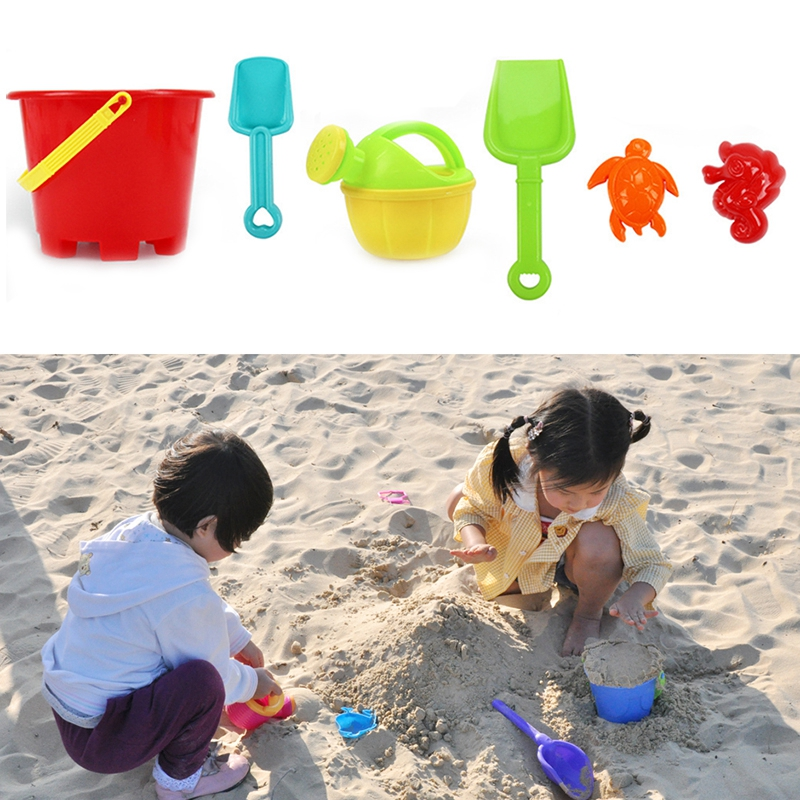 6 Sets Childrens Beach Toy Car Suit Baby Play With Sand Dug Tool Toys & Hobbies Pools & Water Fun