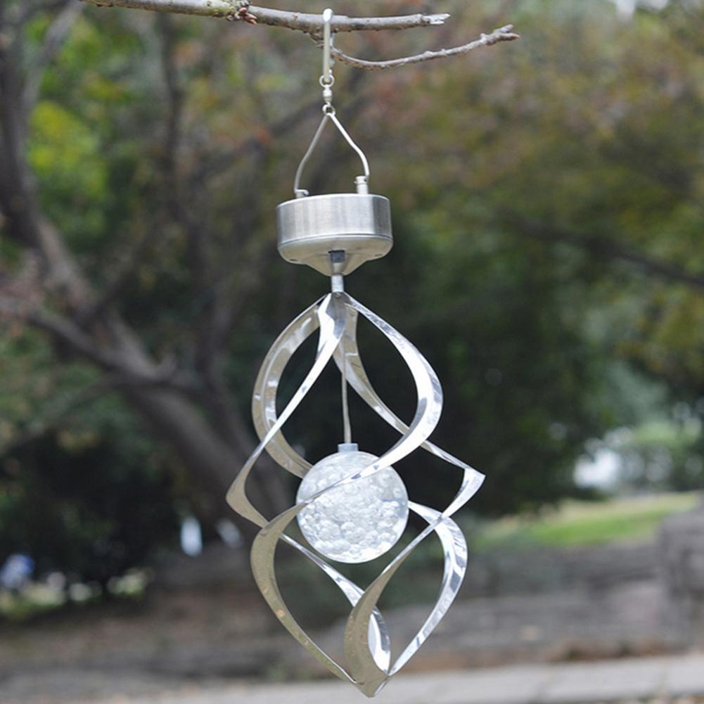 Solar Powered Color Changing Hanging Spiral Lamp Wind Spinner Garden Light C1V5 192701969219  eBay