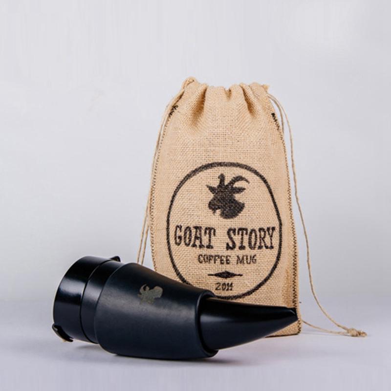 230ml-Tasse-Ziege-Horn-Kaffeetasse-Edelstahl-Liner-Vakuumisolierung-Tasse-Q3L5 Indexbild 3