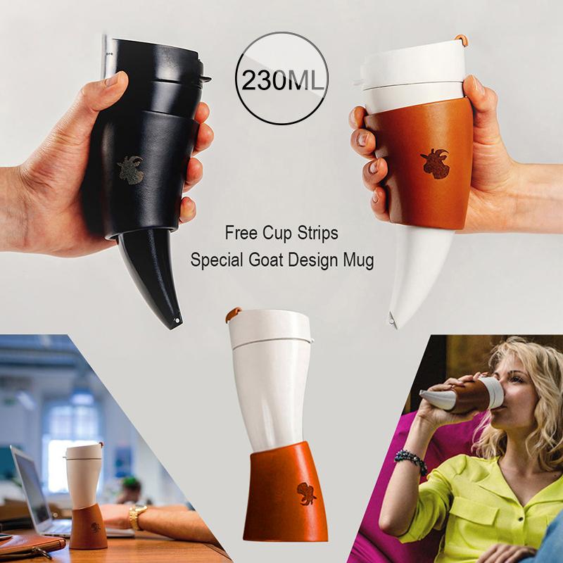 230ml-Tasse-Ziege-Horn-Kaffeetasse-Edelstahl-Liner-Vakuumisolierung-Tasse-Q3L5 Indexbild 9