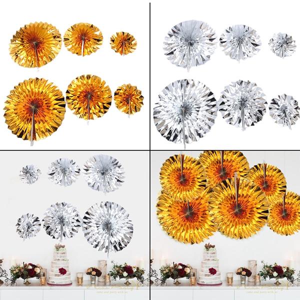 6-piezas-set-ventilador-de-papel-flor-Europea-estilo-fiesta-decoracion-Y8E2 miniatura 9