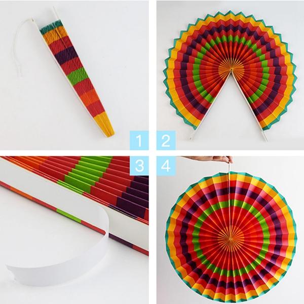6-piezas-set-ventilador-de-papel-flor-Europea-estilo-fiesta-decoracion-T1K7 miniatura 8