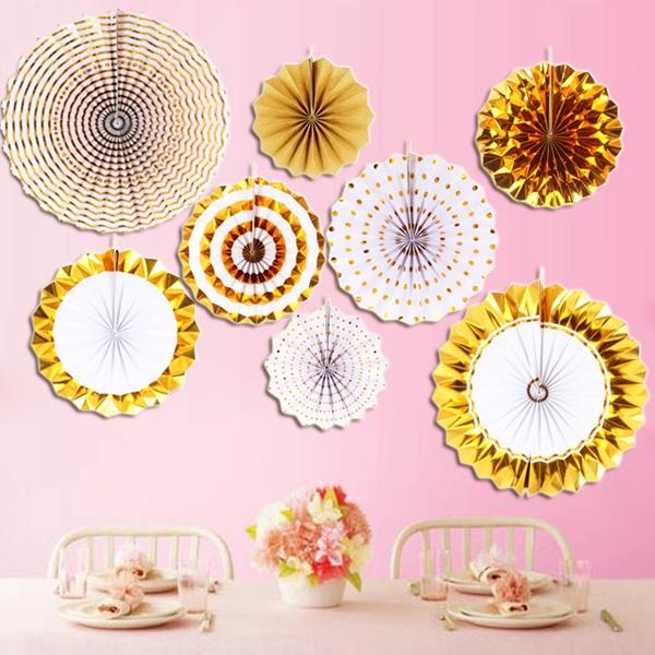 8-piezas-set-ventilador-de-papel-flor-Europea-estilo-fiesta-decoracion-W9F8 miniatura 4