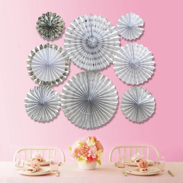 8-piezas-set-ventilador-de-papel-flor-Europea-estilo-fiesta-decoracion-W9F8 miniatura 12