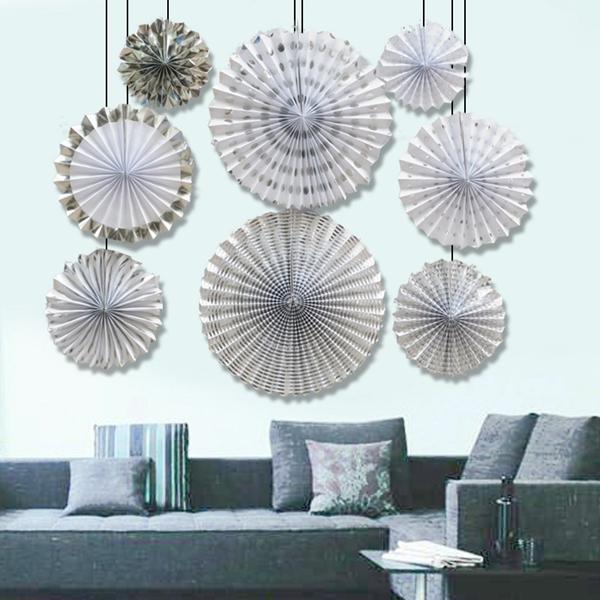 8-piezas-set-ventilador-de-papel-flor-Europea-estilo-fiesta-decoracion-W9F8 miniatura 13