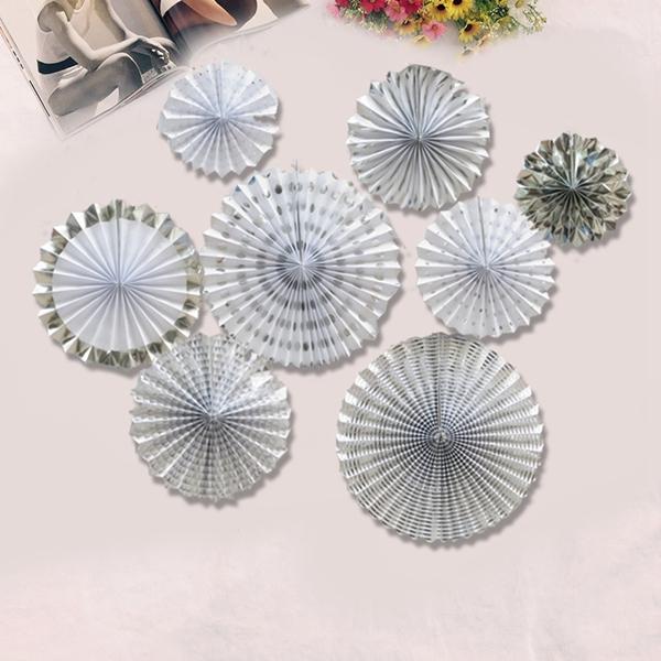 8-piezas-set-ventilador-de-papel-flor-Europea-estilo-fiesta-decoracion-W9F8 miniatura 14