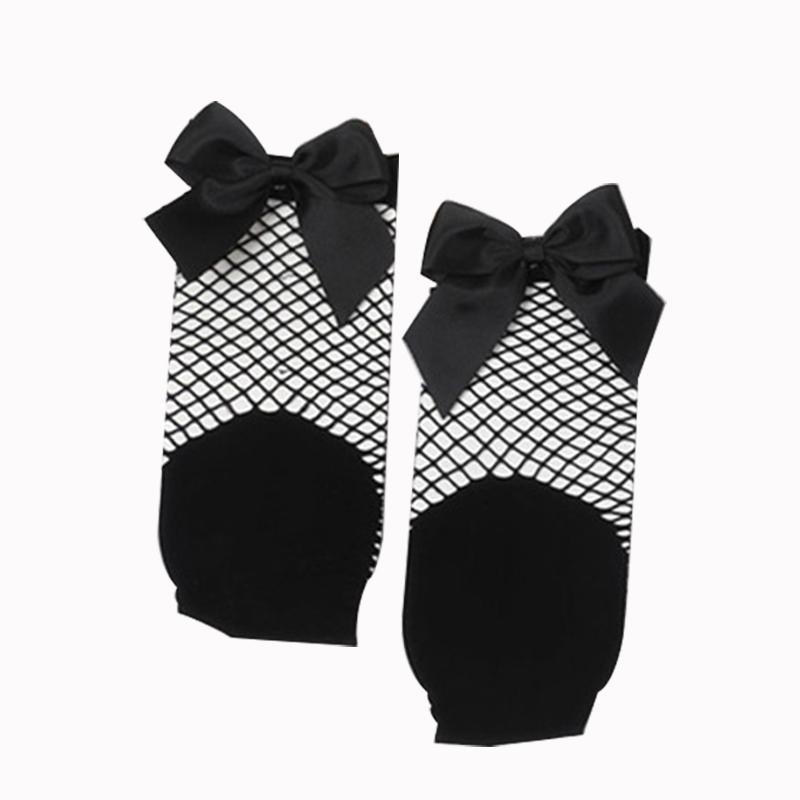 2X-Ete-Femmes-Mode-Noeud-papillon-Chaussettes-resille-Chaussette-a-mailles-X9C1 miniature 9