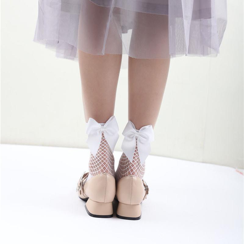 2X-Ete-Femmes-Mode-Noeud-papillon-Chaussettes-resille-Chaussette-a-mailles-X9C1 miniature 14