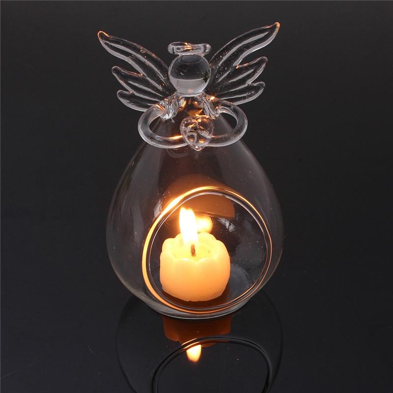 Angel de cristal colgante Candelero luz te Decoracion para el hogar Candelabr8Z9
