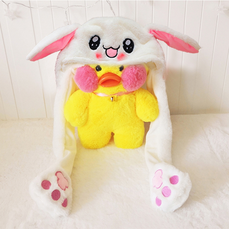 New Style Attractive Kids Cuddly Cuddly Cuddly Pinch Moving Ear Rabbit Airbag Magnet Hat M2O2 2d29d8