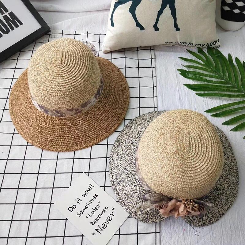 Flowers-Summer-Hats-for-Women-Fashion-Design-Women-Hit-color-Beach-Sun-Hat-I3I2 thumbnail 24