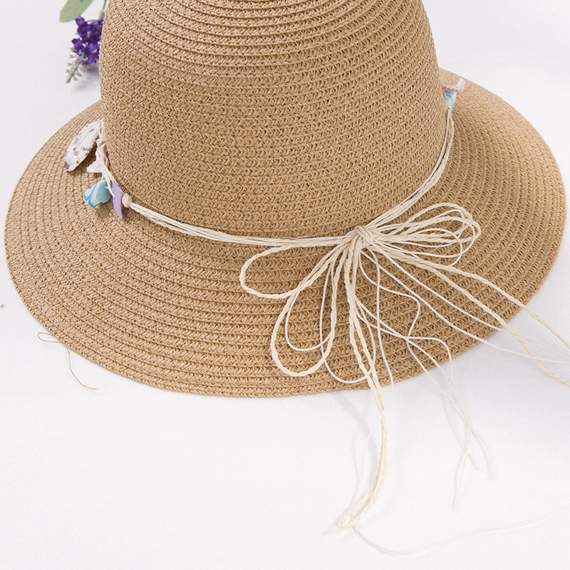 shell-Summer-Hats-for-Women-Fashion-Design-Women-Beach-Sun-Hat-Foldable-Bri-I4G5 thumbnail 3