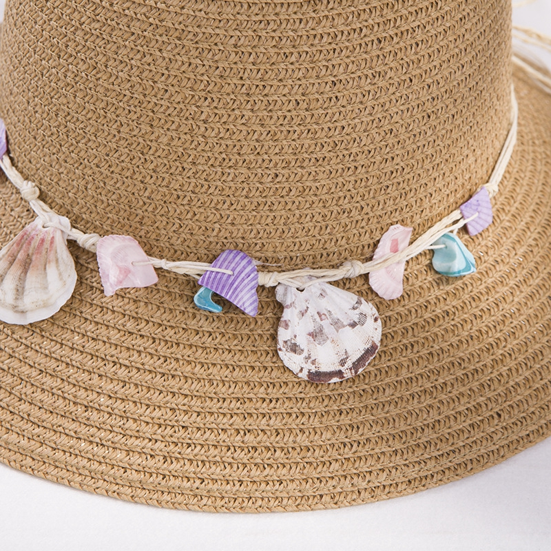 shell-Summer-Hats-for-Women-Fashion-Design-Women-Beach-Sun-Hat-Foldable-Bri-I4G5 thumbnail 4
