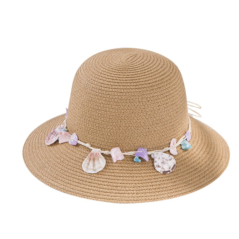 shell-Summer-Hats-for-Women-Fashion-Design-Women-Beach-Sun-Hat-Foldable-Bri-I4G5 thumbnail 7