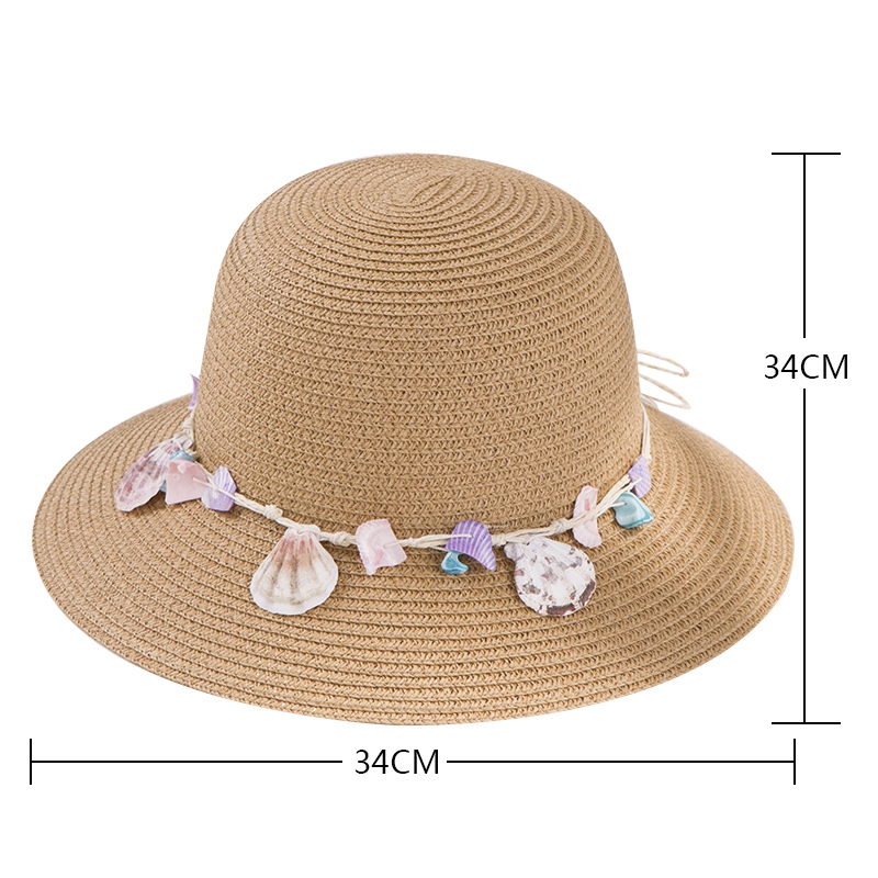 shell-Summer-Hats-for-Women-Fashion-Design-Women-Beach-Sun-Hat-Foldable-Bri-I4G5 thumbnail 8