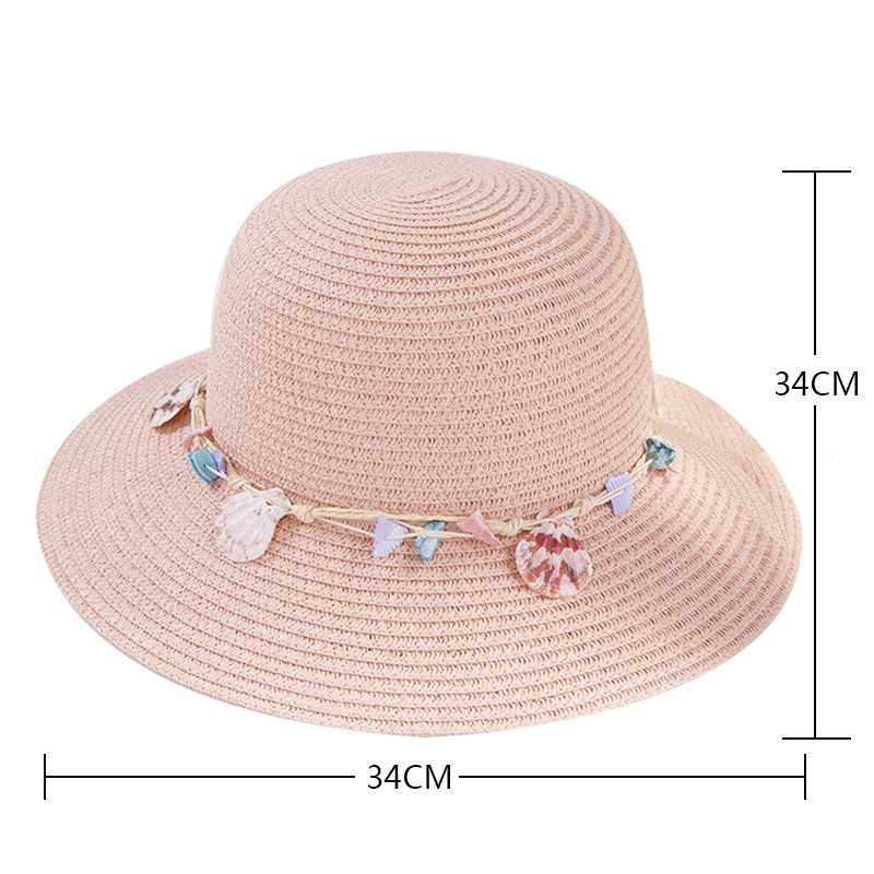 shell-Summer-Hats-for-Women-Fashion-Design-Women-Beach-Sun-Hat-Foldable-Bri-I4G5 thumbnail 16
