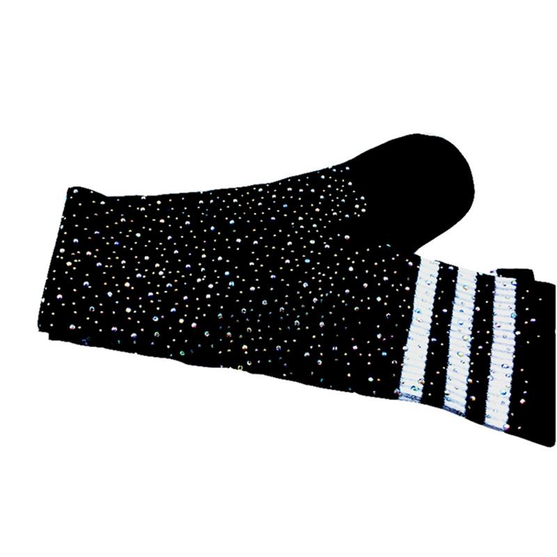 Chaussettes-au-genou-a-la-mode-pour-femmes-Bas-rayes-avec-des-strass-Chausset-H3 miniature 13