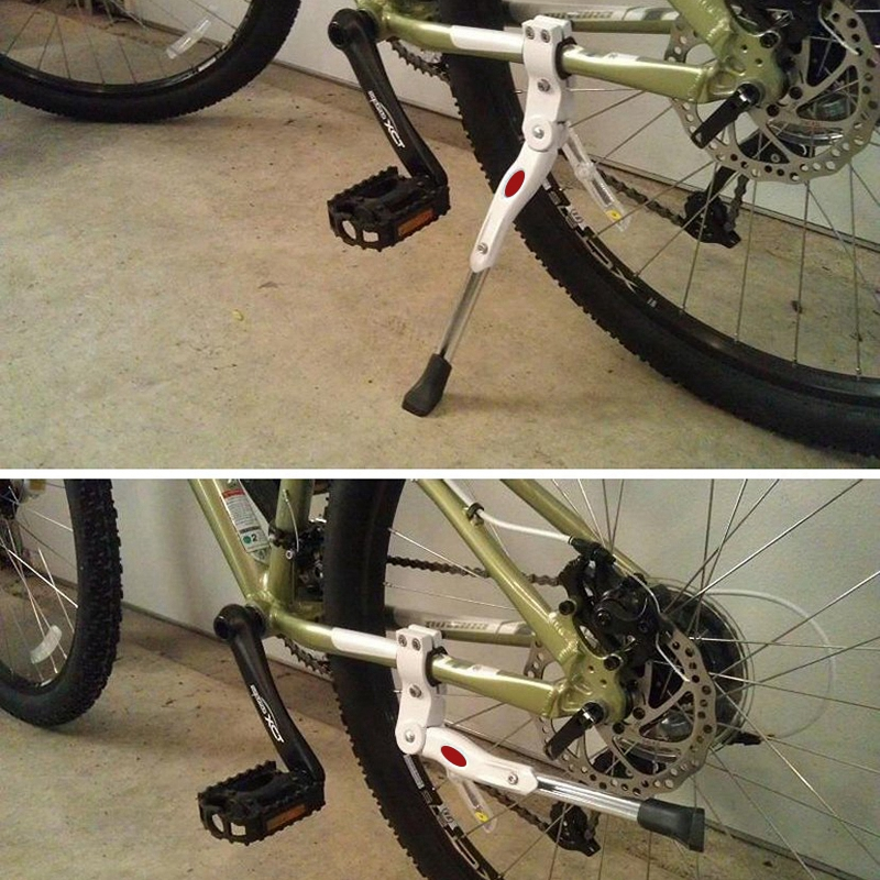 Bequille-en-alliage-d-039-aluminium-reglable-pour-piece-de-cyclisme-de-velo-VTT-SC miniature 6