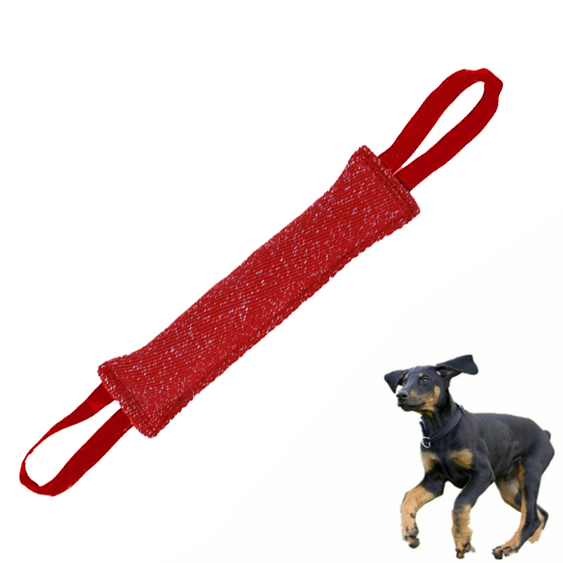 20X2 Handles Pet Training Bite Tug Toys Young Dog Chewing Arm Sleeve H8Q1