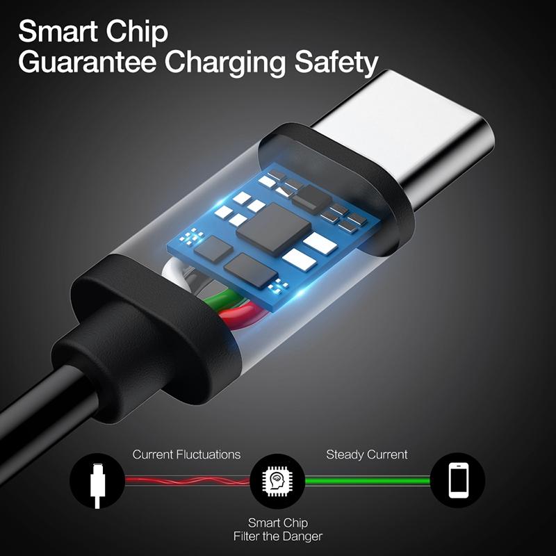 3X-Cable-de-datos-USB-de-cargador-rapido-para-S8-S9-Plus-Note-8-A8-2018-G2O1 miniatura 6