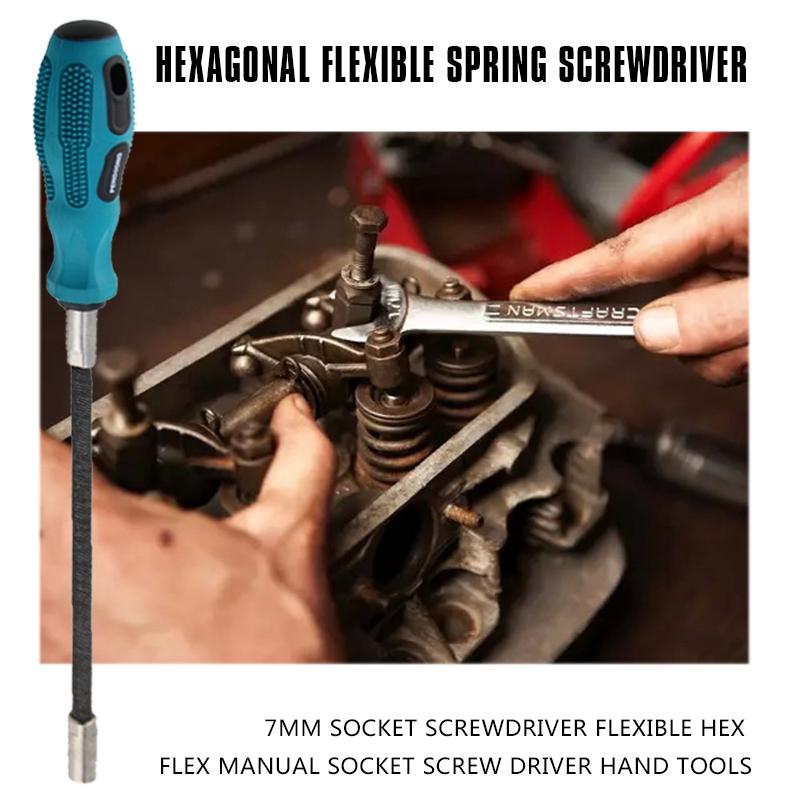 2x-7mm-hexagono-interior-destornilladores-flexible-Hex-Flex-mano-casquillos-pernos-d9k7