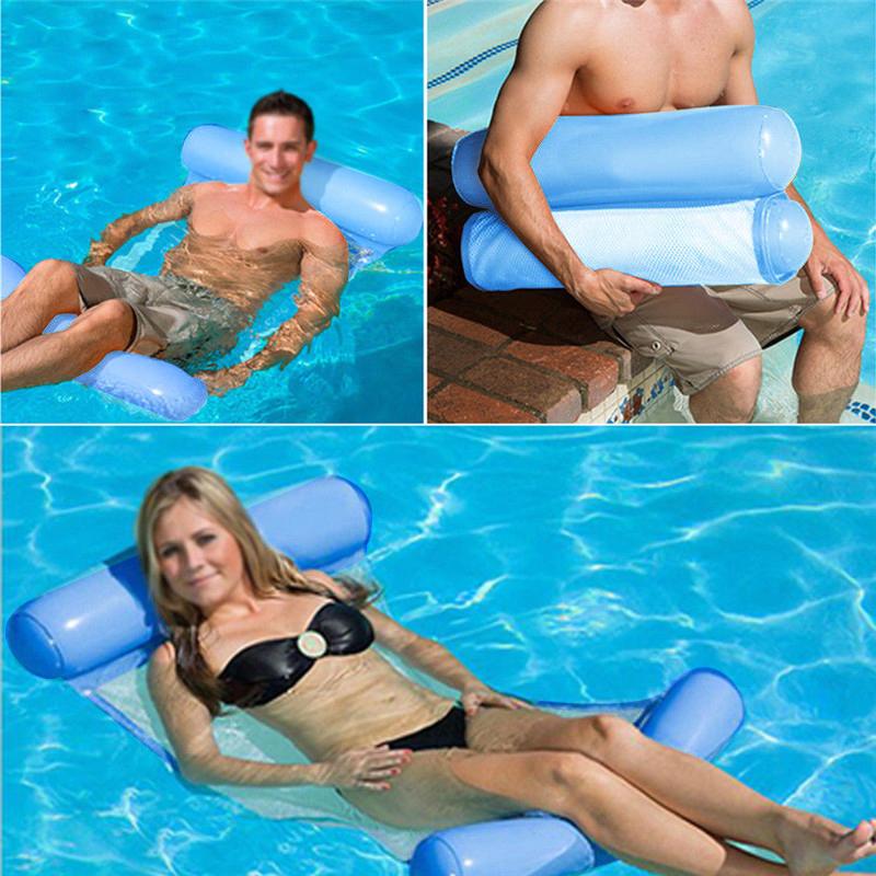 Piscine-d-039-ete-Hamac-d-039-eau-Chaise-flottante-Lit-flottant-PVC-Eau-de-baignade-SC miniature 6